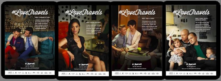 Marriott International has launched its #LoveTravels campaign to convey the company's inclusion and celebration of the LGBT community.